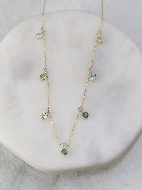 Sea Bean Tourmaline Necklace