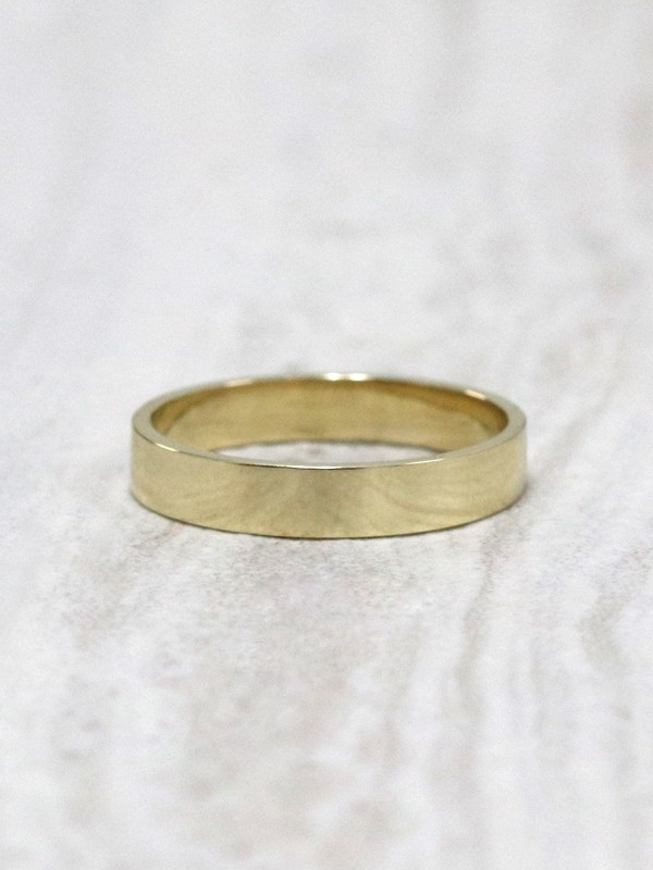 3MM Modern Straight Eage Solid 14 Karat Gold Band