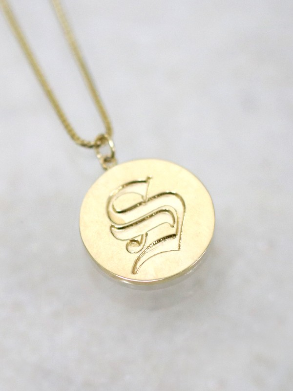 Old English Initial Pendant