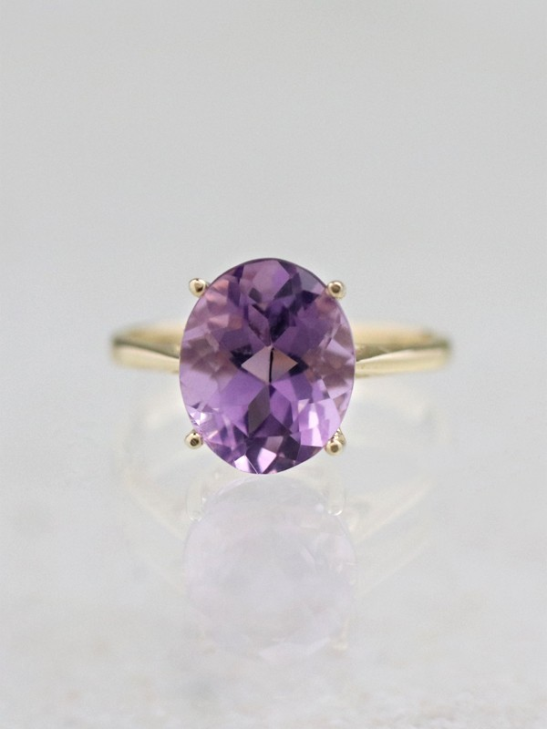 3.65CT Lavender Amethyst Solitaire Ring