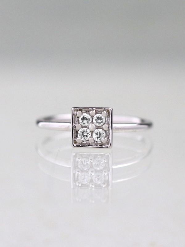 Princess Diamond Cluster Ring