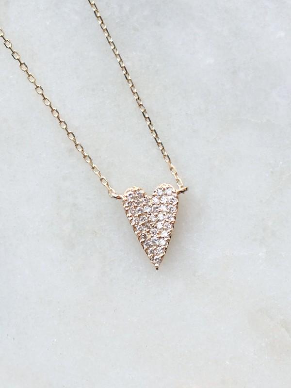 A piece of my Diamond Heart Necklace