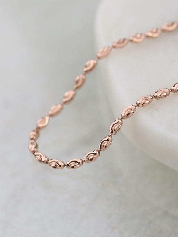 Moon Bead plated Gold Chain