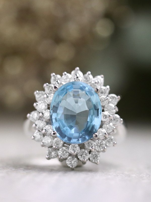 Santa Maria aquamarine engagement ring
