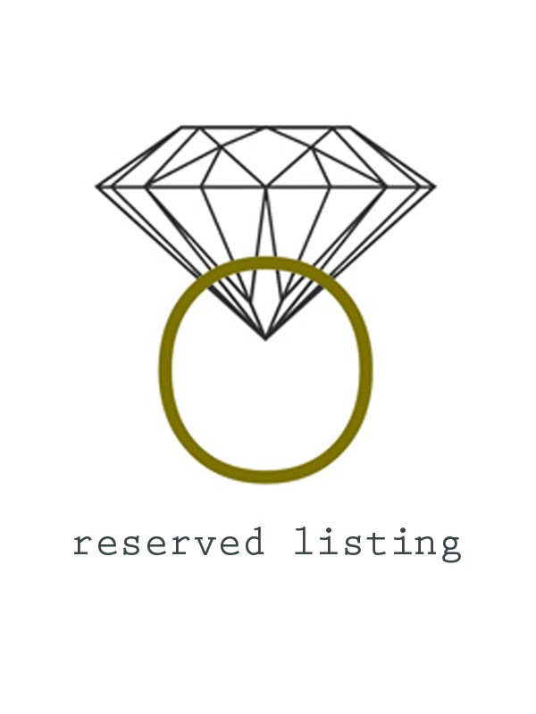Reserved Listing for Gloria