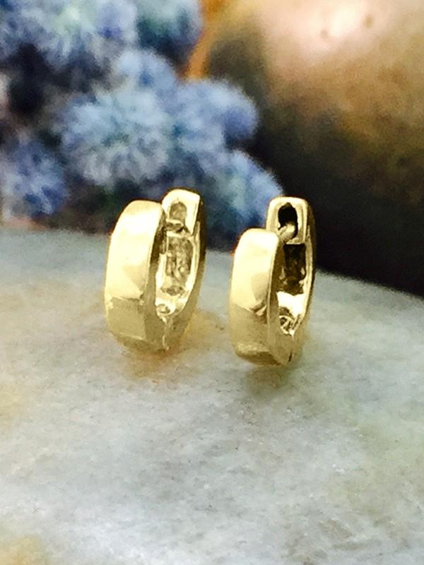 6MM Cartilage Hoop Solid 14K Yellow Gold (14KY) Minimalist Petite Piercing Earrings