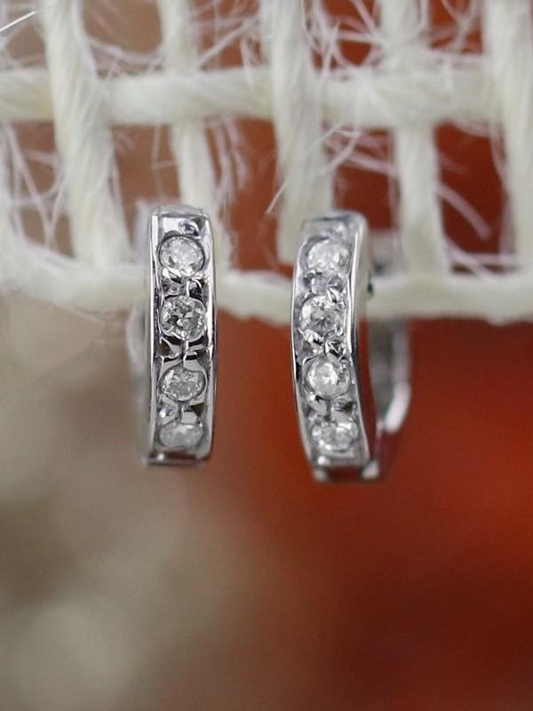 6MM Cartilage Hoop Solid 14K Rose Gold (14KR) Minimalist Petite Piercing Earrings
